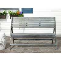 Deals on Safavieh Outdoor Luca Ash Grey Folding Bench