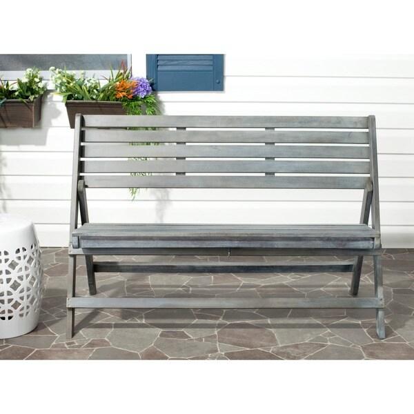Safavieh Outdoor Luca Brown Folding Bench