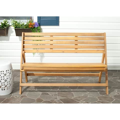 "Safavieh Outdoor Luca Folding Bench - 48"" x 23.6"" x 31.5"""