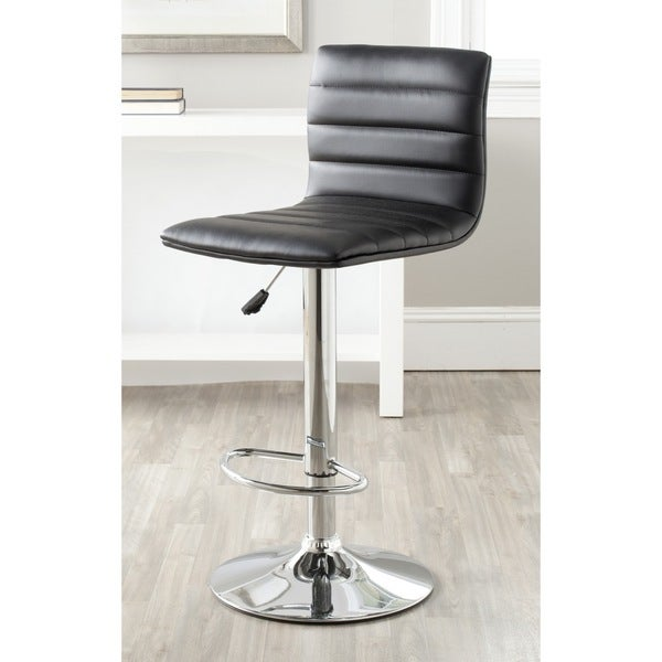 Shop Safavieh Arissa Black Adjustable 24 30 Inch Swivel Bar Stool