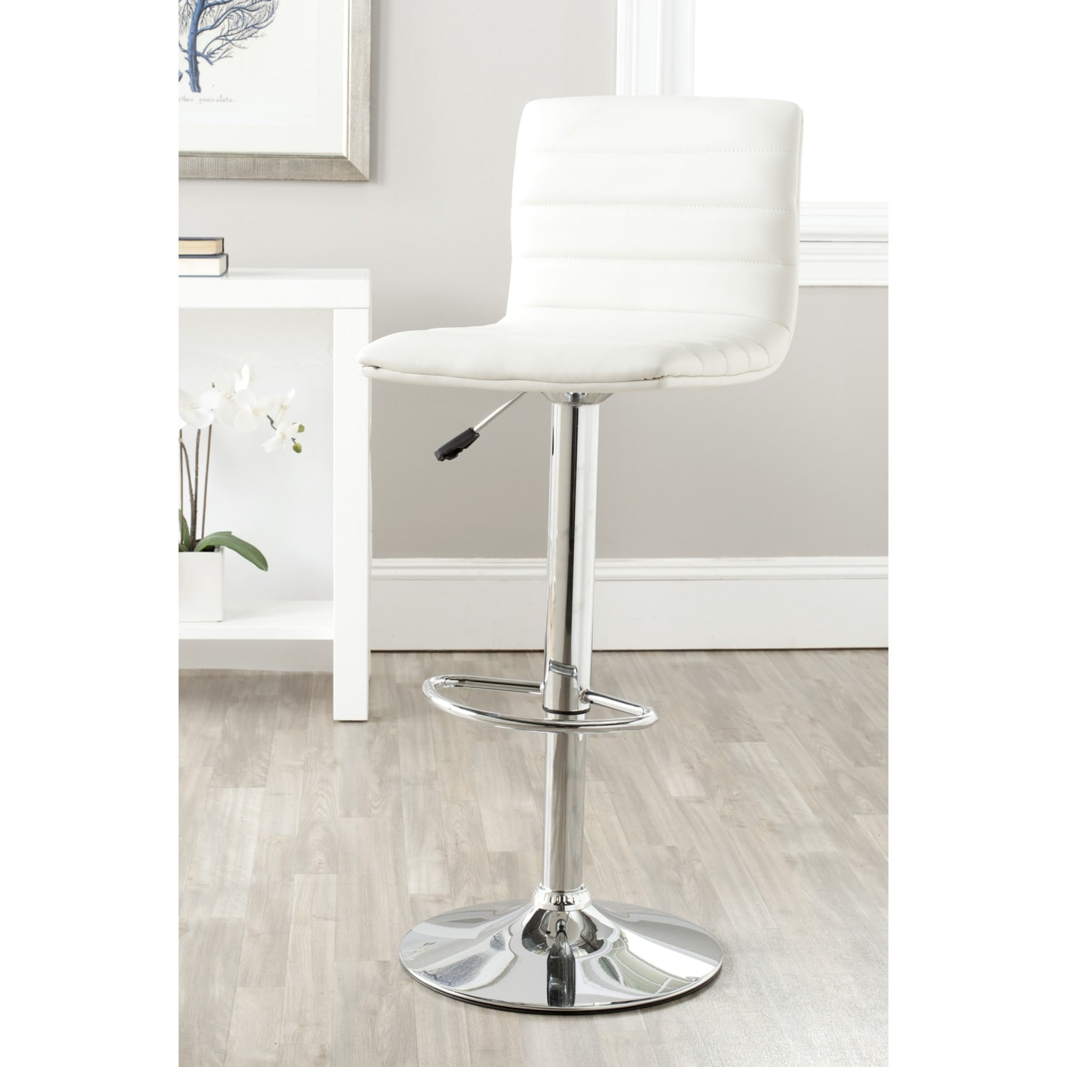 Pleasant Safavieh Arissa White Adjustable 24 30 Inch Swivel Bar Stool 15 4 X 18 5 X 34 7 Onthecornerstone Fun Painted Chair Ideas Images Onthecornerstoneorg