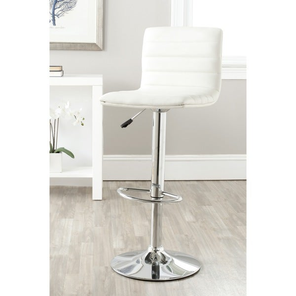 Shop Safavieh Arissa White Adjustable 24 30 Inch Swivel Bar Stool