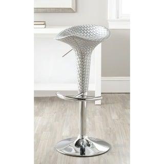 Safavieh Flynn Silver Adjustable 24-32-inch Bar Stool