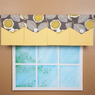 Design Your Valance Grey Floral 4-panel Valance