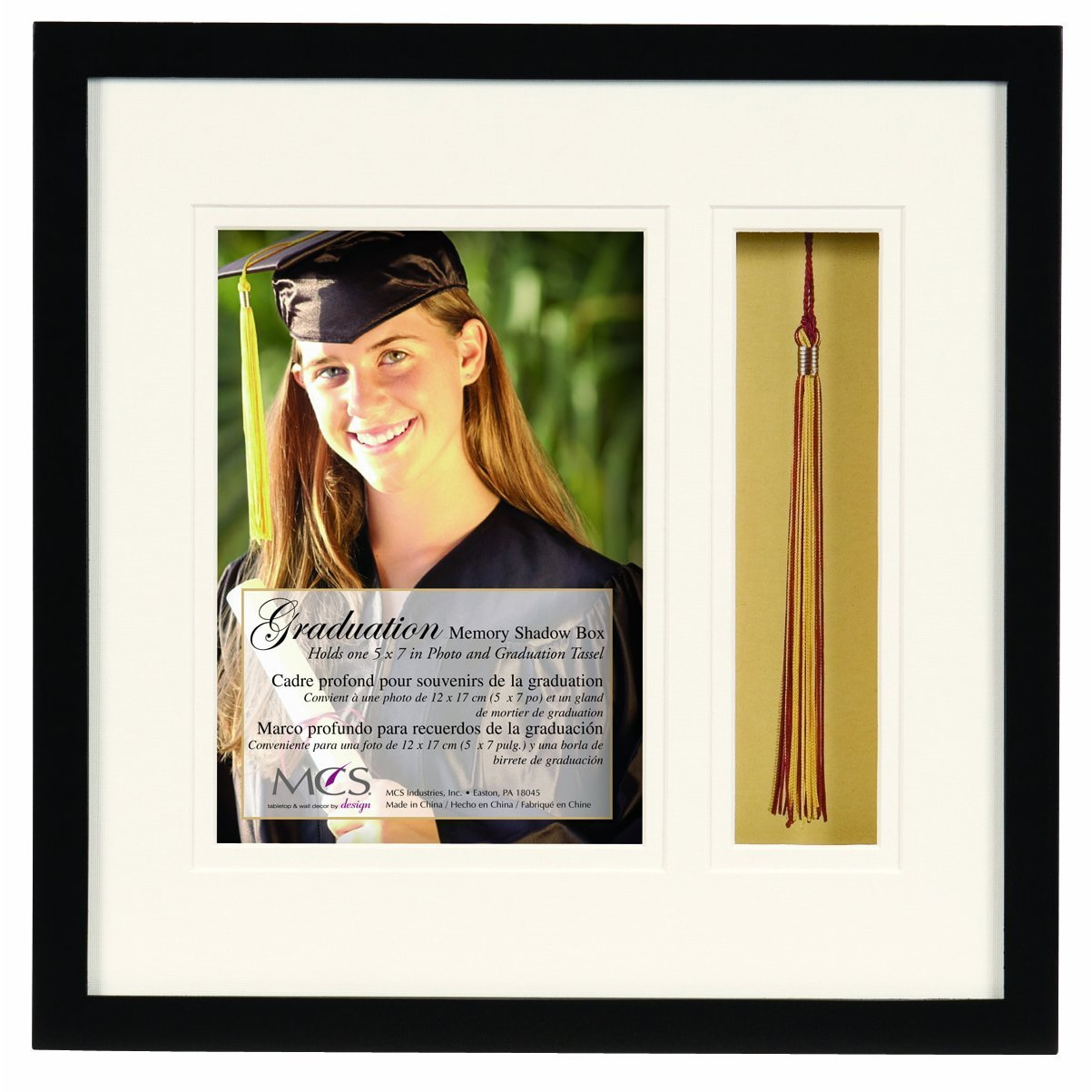 MCS 5-inch x 7-inch Graduation Shadow Box Frame with Tass...