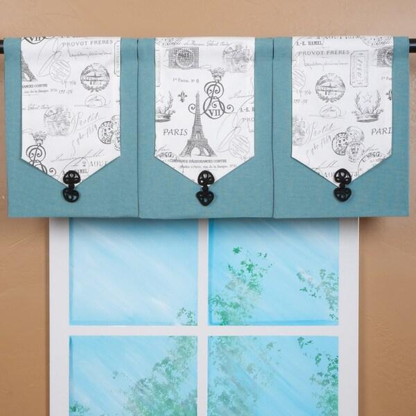 Shop Design Your Valance Paris 3 Panel Valance Free