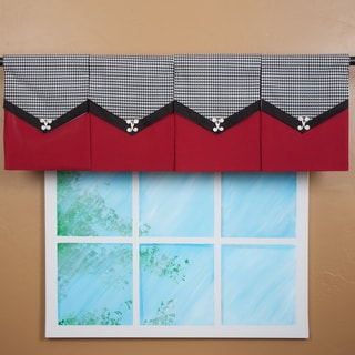 Design Your Valance Houndstooth 4-Panel Valance