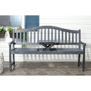 Safavieh Outdoor Mischa Ash Grey Bench
