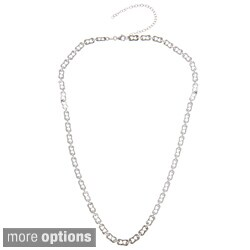 La Preciosa Sterling Silver Fancy Link Necklace