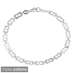 La Preciosa Sterling Silver Fancy Link Bracelet