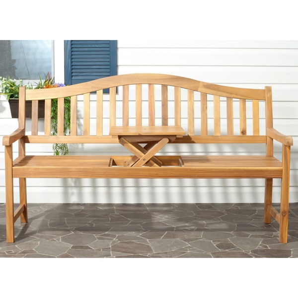 Shop Safavieh Mischa Outdoor Bench Free Shipping Today Overstock
