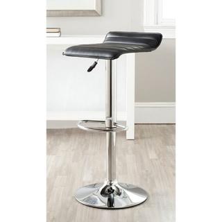 "Link to Safavieh Kemonti Black Adjustable 22.4-31-inch Swivel Bar Stool - 15.2"" x 15.8"" x 25.2"" Similar Items in Dining Room & Bar Furniture"
