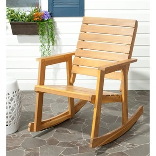 Safavieh Outdoor Alexei Teak Rocking Chair