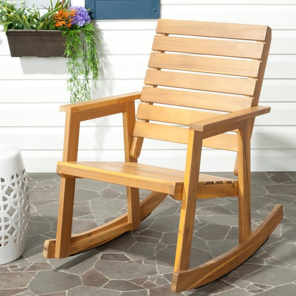 shop safavieh outdoor alexei rocking chair on sale free shipping