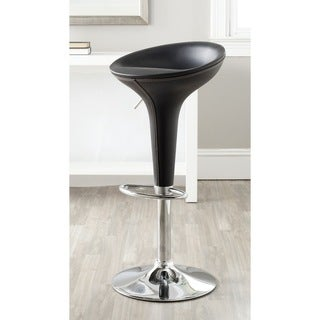 Safavieh Shedrack Black Adjustable 23-32-inch Swivel Bar Stool