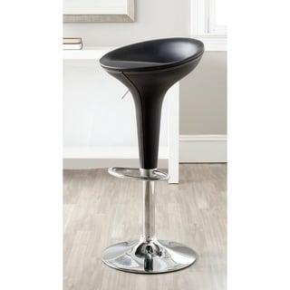 "Safavieh Shedrack Black Adjustable 23-32-inch Swivel Bar Stool - 17.5"" x 15.8"" x 26.4"""