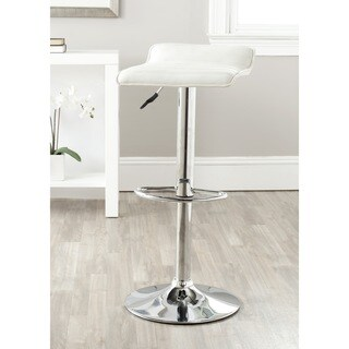Safavieh 22.4-30.9-inch Kemonti White Adjustable Swivel Bar Stool