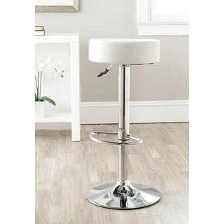 "Safavieh 25.6-31.5-inch Jute White Adjustable Swivel Bar Stool - 15.2"" x 15.2"" x 25.6"""