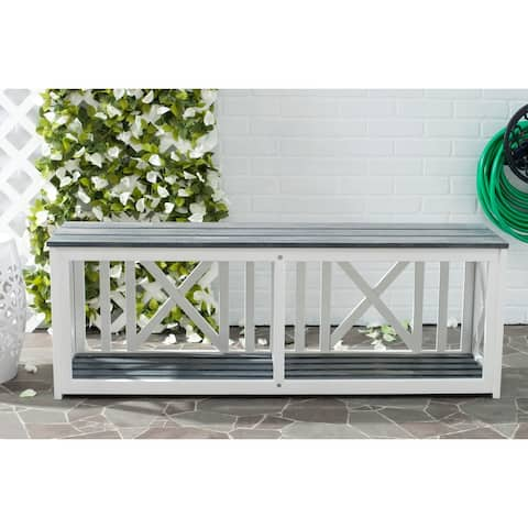 Safavieh Branco White / Ash Grey Outdoor Bench