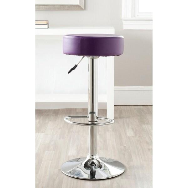 "Safavieh Jute Purple Adjustable 26-32-inch Swivel Bar Stool - 15.2"" x 15.2"" x 25.6"". Opens flyout."