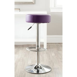 Safavieh 25.6-31.5-inch Jute Purple Adjustable Swivel Bar Stool