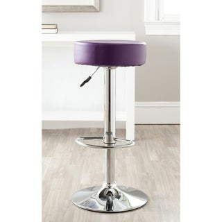 Safavieh Jute Purple Adjustable 26-32-inch Swivel Bar Stool