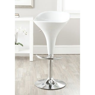 Safavieh 23.6-32.3-inch Yatim White Adjustable Swivel Bar Stool