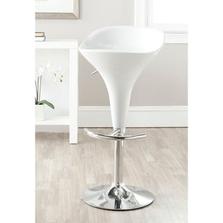 "Safavieh Yatim White Adjustable 24-32-inch Bar Stool - 17.3"" x 15.6"" x 27.6"""