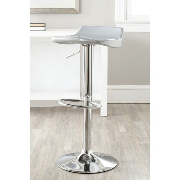 Shop Safavieh Avish Silver Adjustable 24 32 Inch Bar Stool