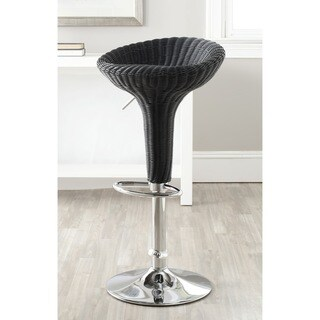 Safavieh Monicka Black Adjustable 23-32-inch Swivel Bar Stool