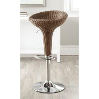 Safavieh Monicka Brown Adjustable 23-32-inch Swivel Bar Stool