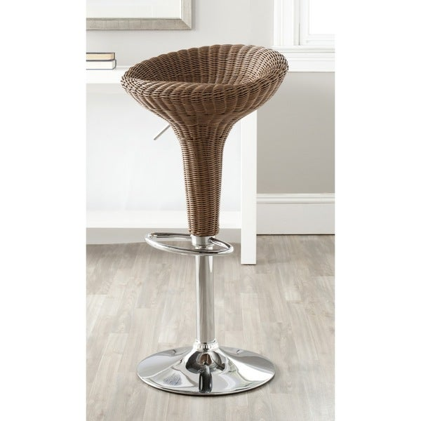 Shop Safavieh Monicka Brown Adjustable 23 32 Inch Swivel