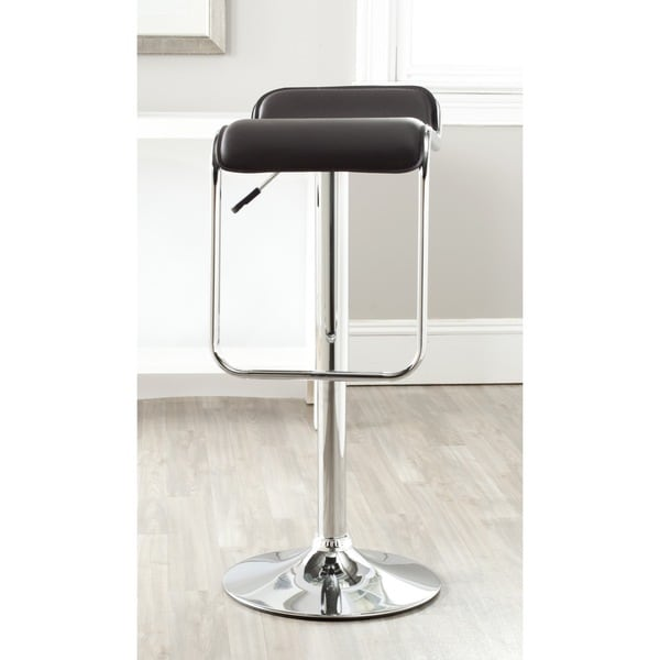 Shop Safavieh Taronda Brown Adjustable 24 32 Inch Swivel Bar Stool