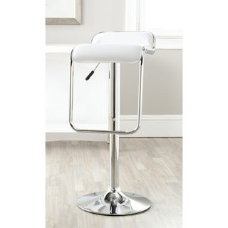 Safavieh Taronda White Adjustable 24-32-inch Swivel Bar Stool