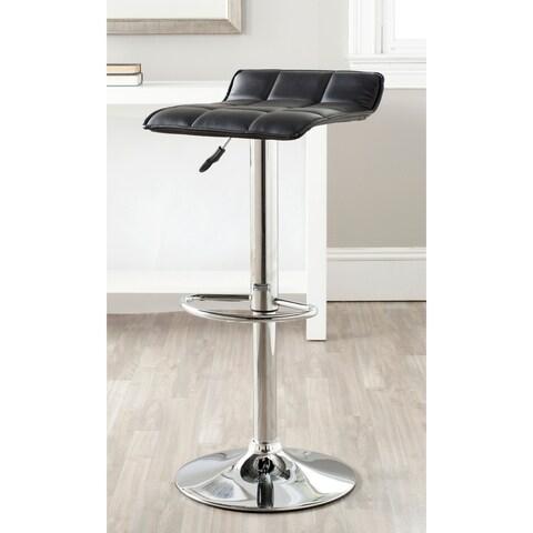 Safavieh Lamita Black Adjustable 22.4-31-inch Swivel Bar Stool
