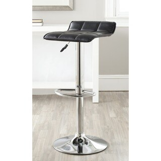 Safavieh Lamita Black Adjustable 22.4-31-inch Swivel Bar Stool