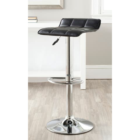 "Safavieh Lamita Black Adjustable 22.4-31-inch Swivel Bar Stool - 15.2"" x 15.8"" x 25.2"""