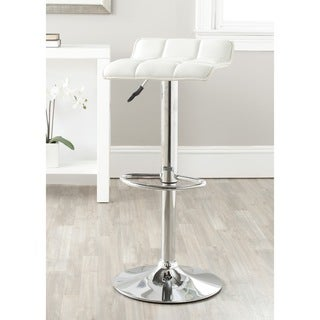 Safavieh 22.4-30.9-inch Lamita White Adjustable Swivel Bar Stool