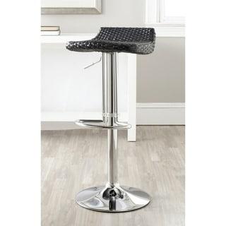 Safavieh Juji Black Adjustable 24-32.5-inch Swivel Bar Stool