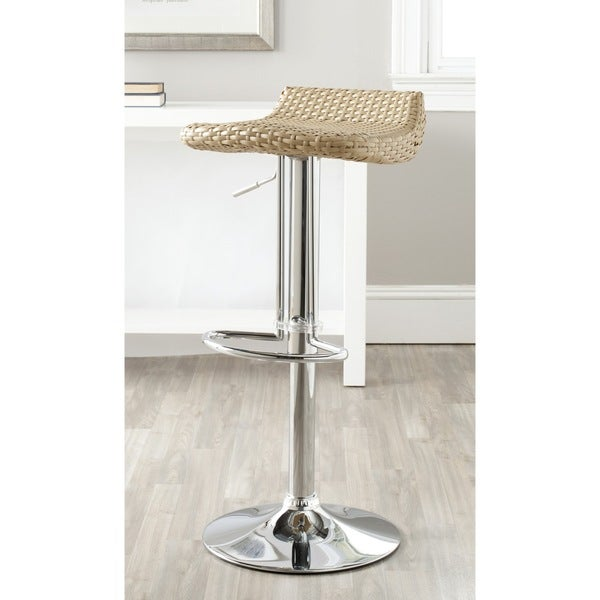 Safavieh Juji Natural Adjustable 24-32.5-inch Swivel Bar Stool
