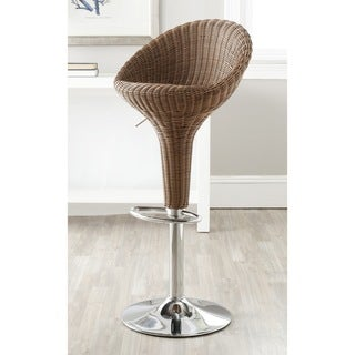 Safavieh 23.2-31.7-inch Nordika Brown Adjustable Swivel Bar Stool