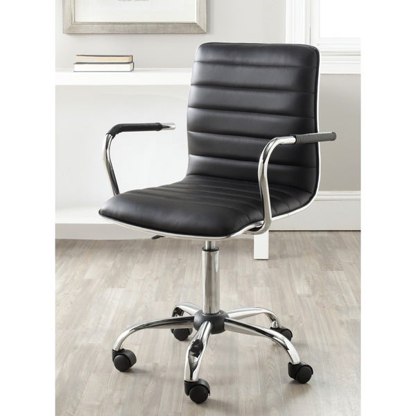 Safavieh Jonika Black Adjustable Height Desk Chair Free Shipping Today Ov