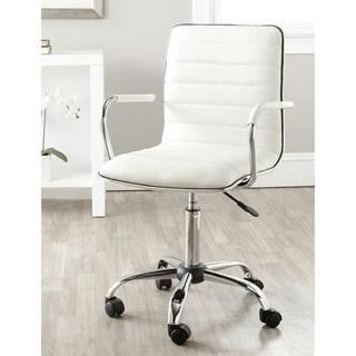 safavieh jonika white adjustable height desk chair - Desk Chairs For Teens