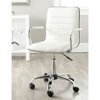 "Safavieh Jonika White Adjustable Height Desk Chair - 22.4"" x 19.9"" x 35.9"""