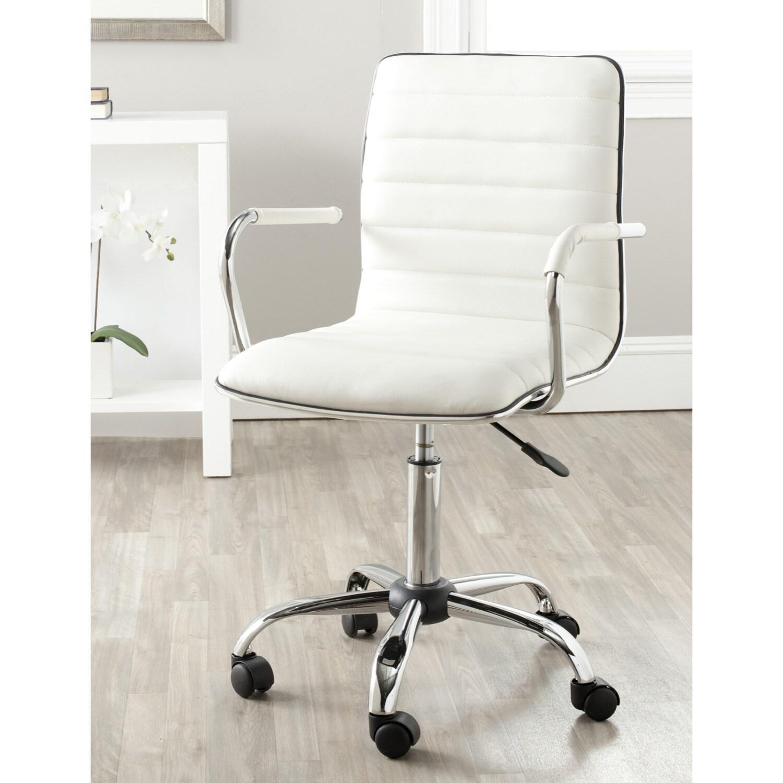 Shop Safavieh Jonika White Adjustable Height Desk Chair 224 X