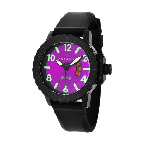 Android Men's 'Divemaster Trans 50' Purple/ Black Watch