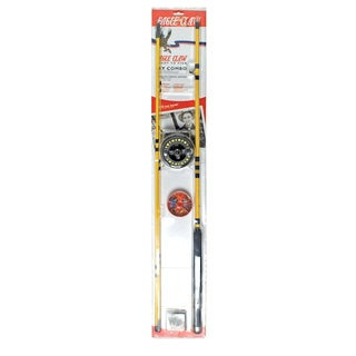 Eagle Claw Water Eagle Fly Combo, 8 Foot - 3-piece Rod
