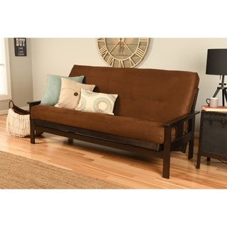 Somette Beli Mont Multi-flex Full-size Futon Frame with Microsuede Innerspring Mattress