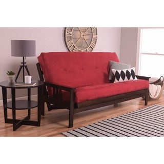 Somette Beli Mont Multi-flex Full-size Futon Frame with Suede Innerspring Mattress