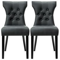 Copper Grove Coldspring Modern Black Dining Chairs (Set of 2)